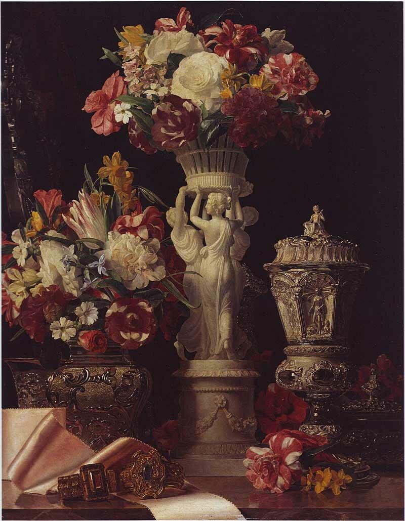 фотографии цветов натюрморты под старину крепок умен